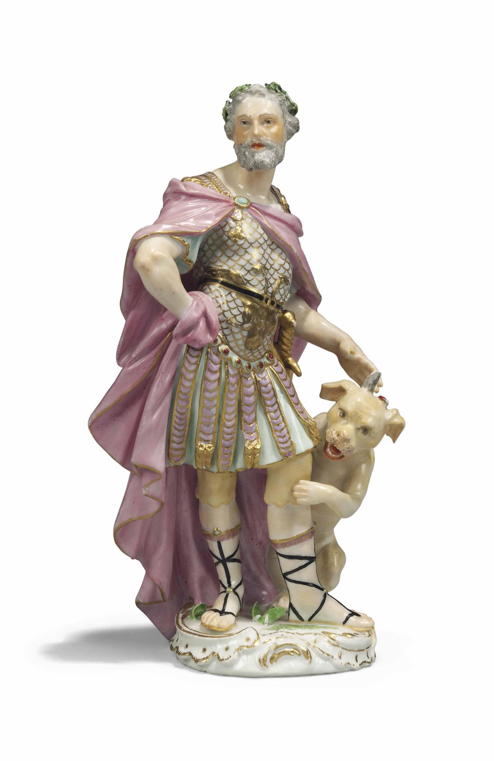 A MEISSEN FIGURE OF JULIUS CAE