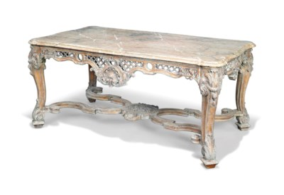 A FRENCH GREY AND GILT DECORAT