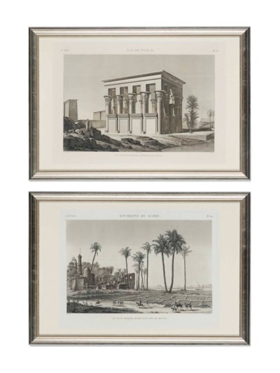 SEVEN FRENCH ENGRAVINGS OF EGY