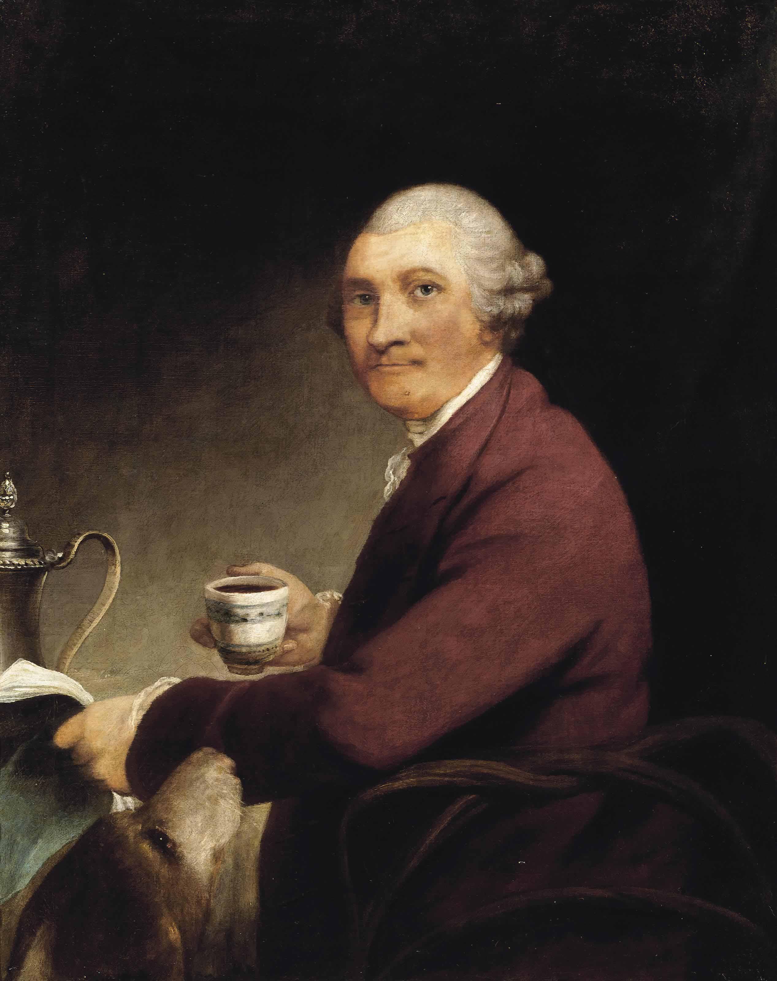 Portrait of a tea drinker