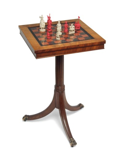 A CHINESE EXPORT IVORY CHESS S