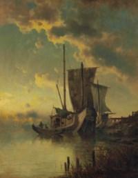 Fishing boats moored