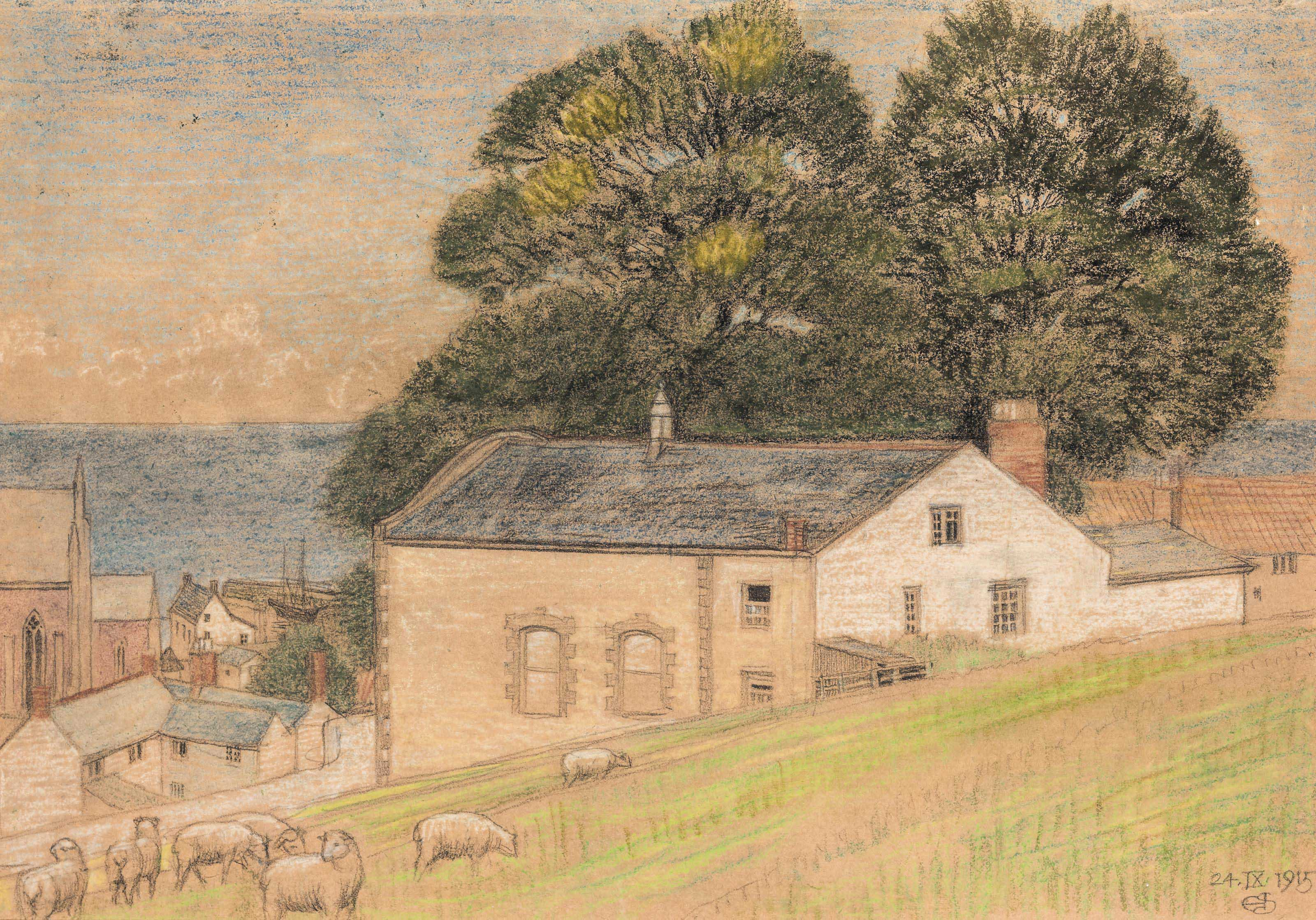 Grazing sheep, Watchet, Somerset