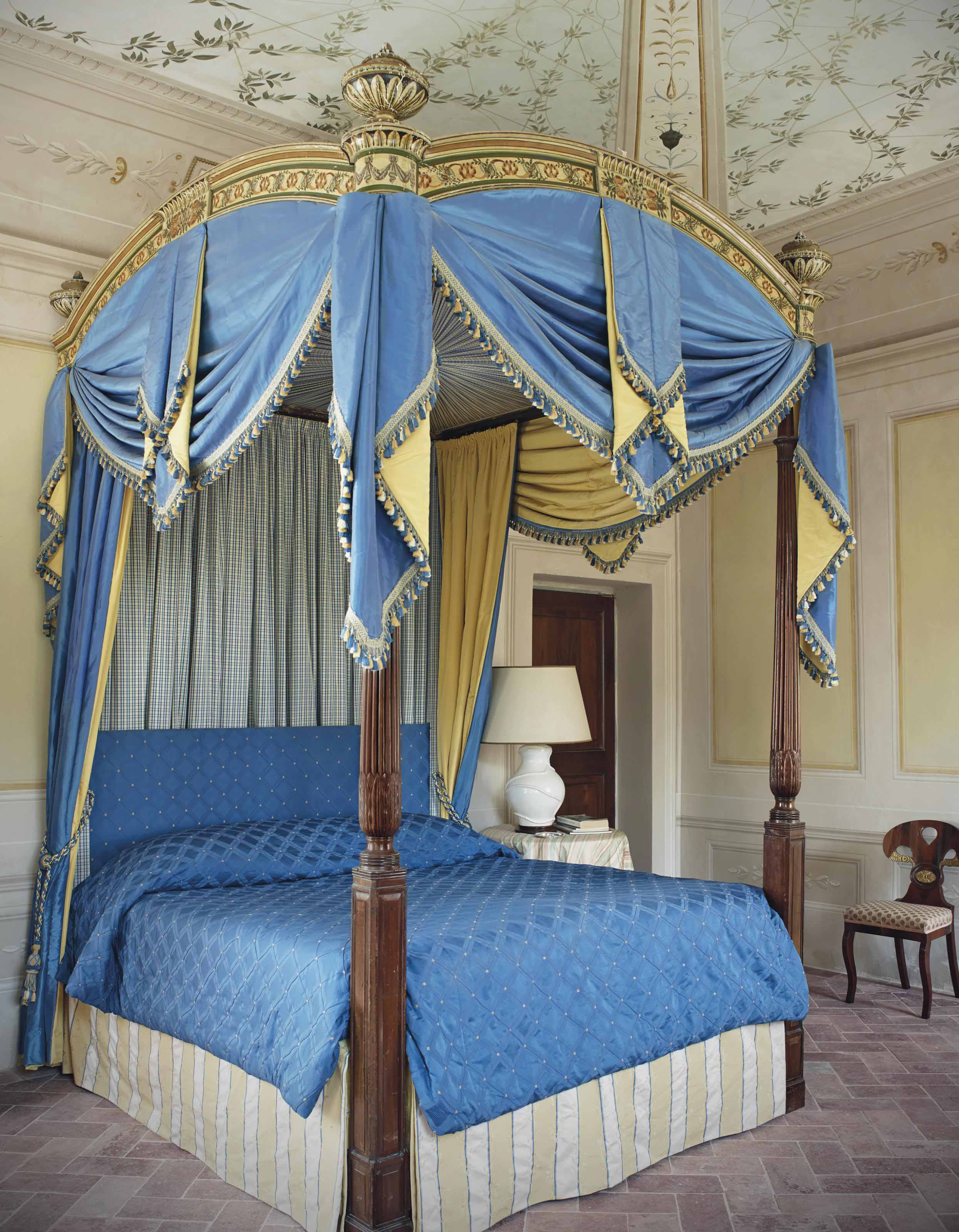 A Victorian Mahogany Four Poster Bed