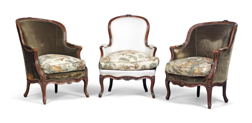 THREE LOUIS XV STAINED BEECH B
