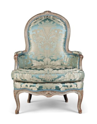 A LOUIS XV GREY-PAINTED BERGER