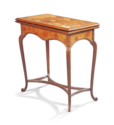 A FRENCH FRUITWOOD MARQUETRY C