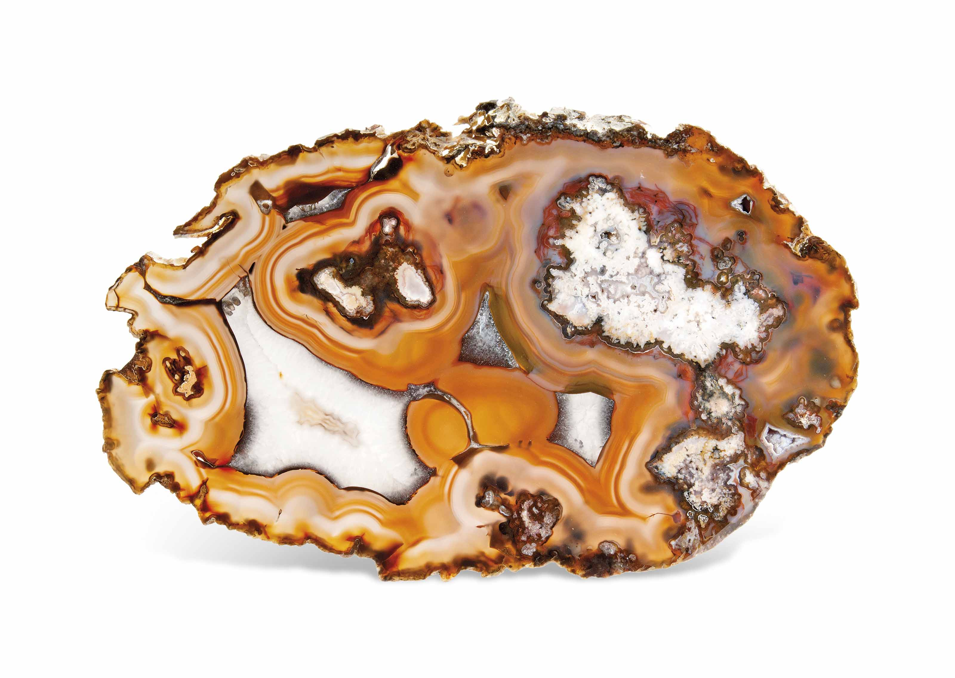 A LARGE AGATE SLICE