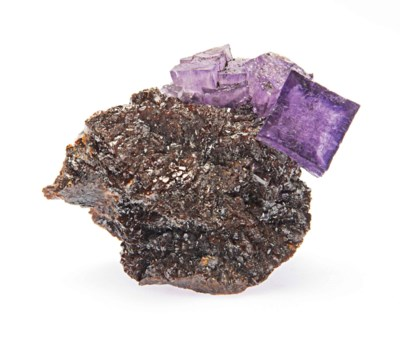 FLUORITE CRYSTALS WITH SPHALER