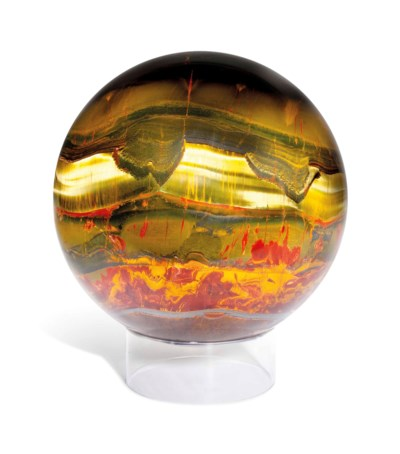 A SPHERE OF BANDED IRON TIGER