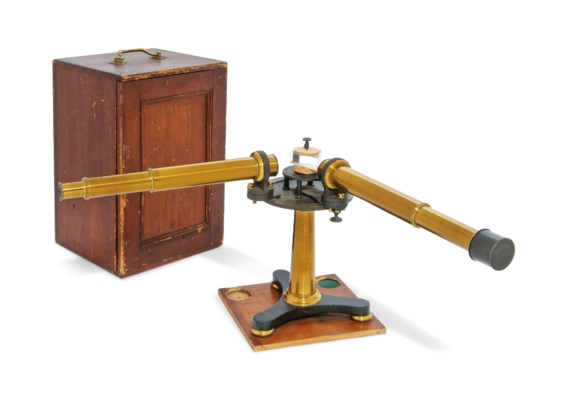 A LACQUERED BRASS SPECTROSCOPE