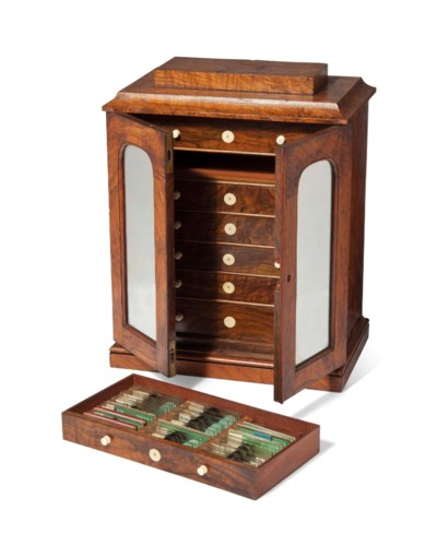 A CABINET OF MICROSCOPE SLIDES