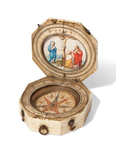 AN IVORY DIPTYCH DIAL