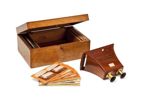 A CASED BREWSTER STEREOSCOPIC