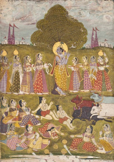 KRISHNA, THE COWHERDS AND THE