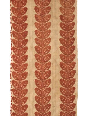TWO EMBROIDERED BED CURTAIN PA