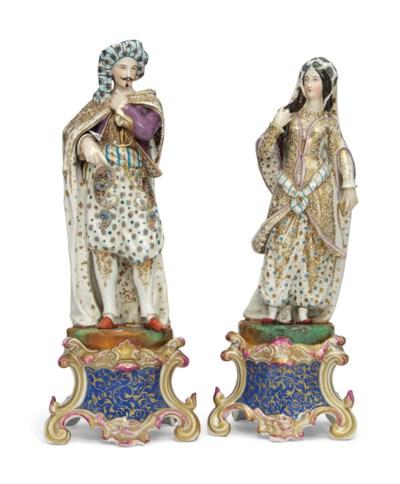 TWO 'PORCELAINE DE PARIS' TISA