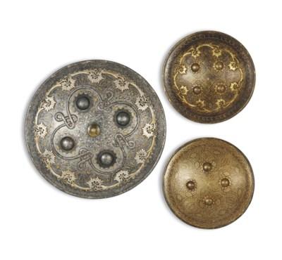 THREE GOLD-DAMASCENED (KOFTGAR