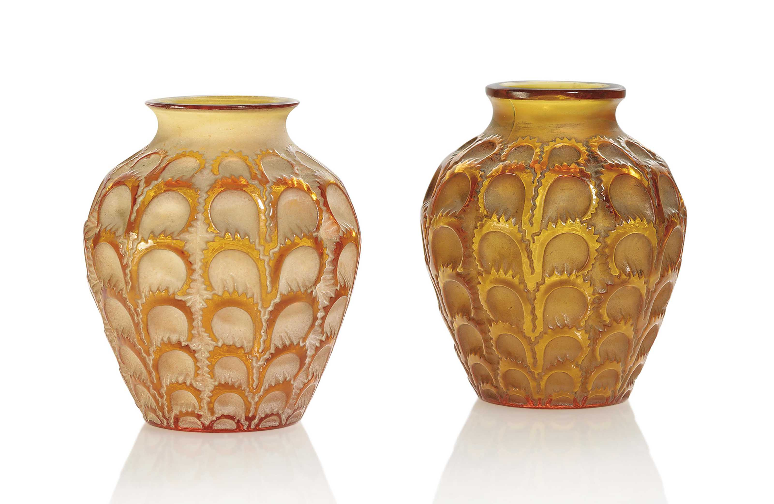 TWO LAITERONS VASES, NO. 1072
