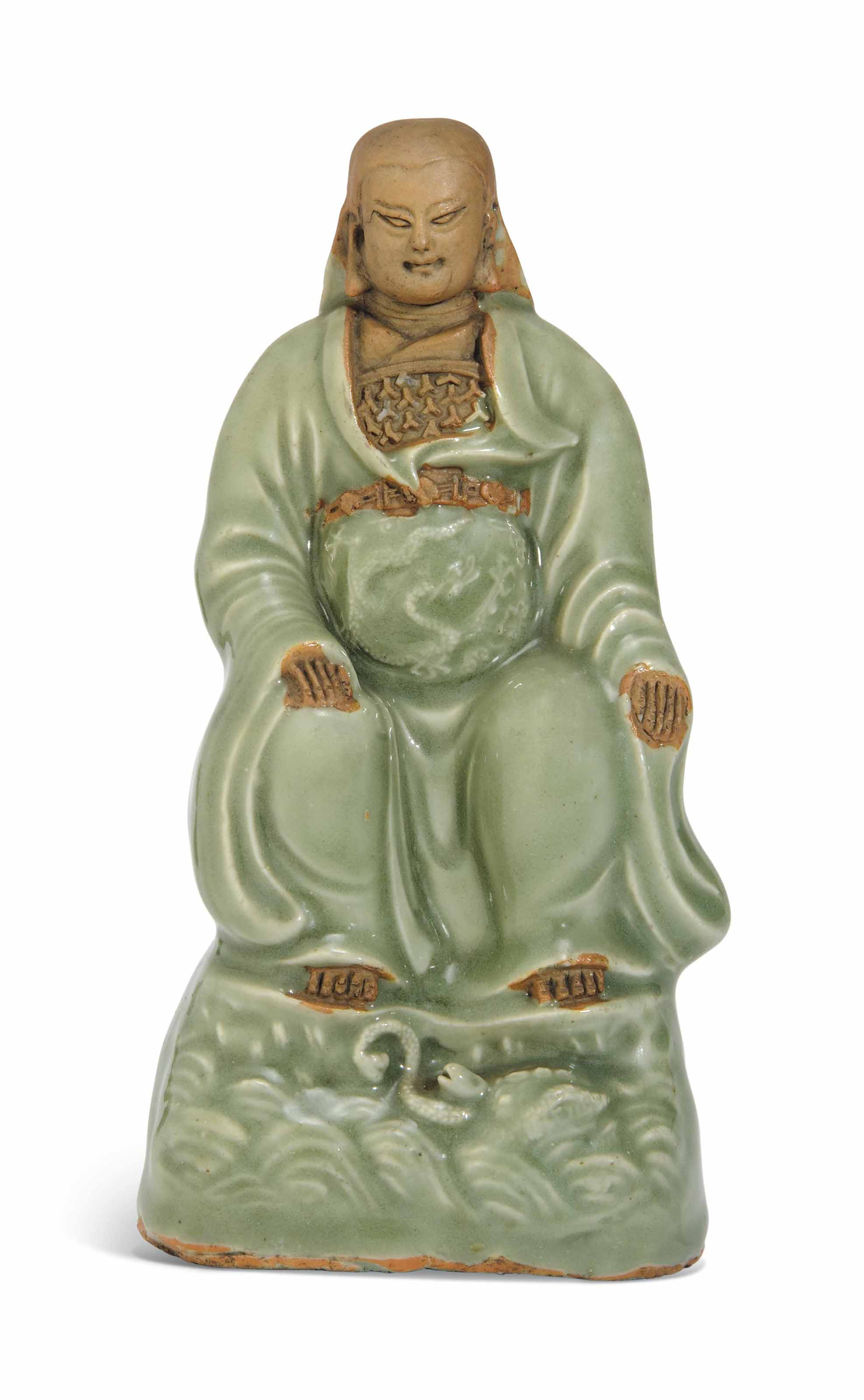 A LONGQUAN CELADON AND BISCUIT