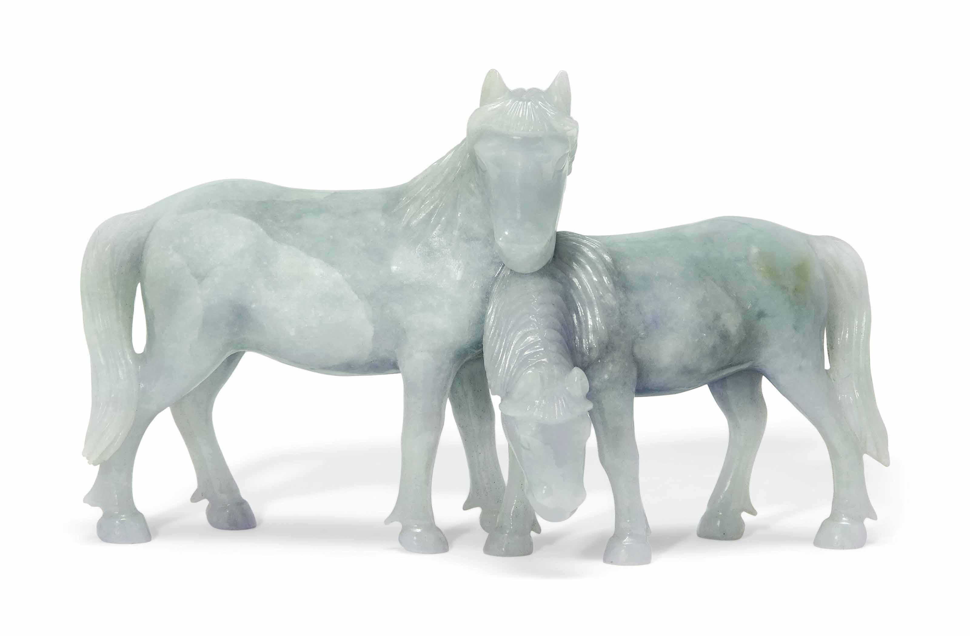 A JADEITE 'HORSE' GROUP