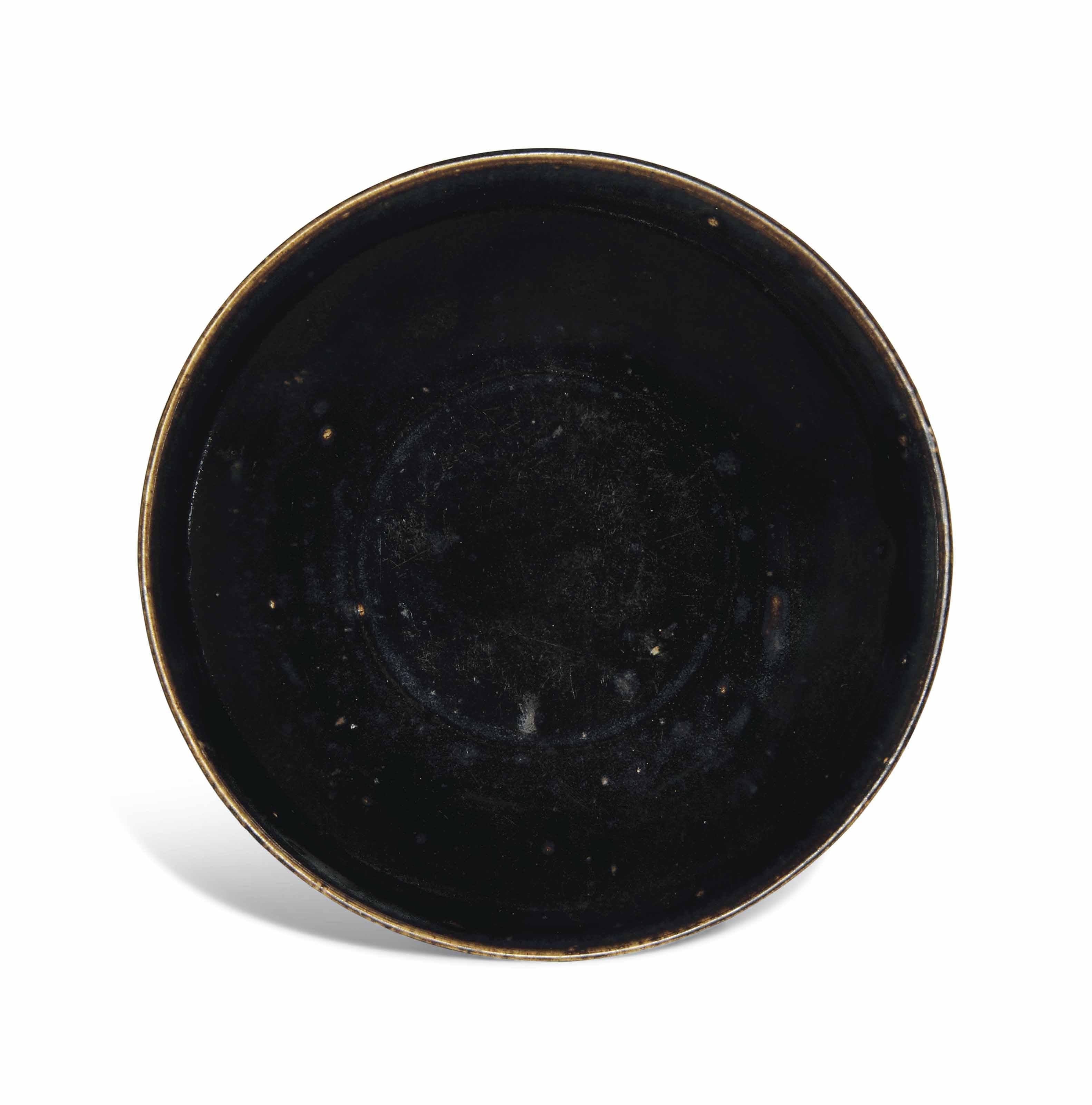 A HENAN BLACK-GLAZED DISH