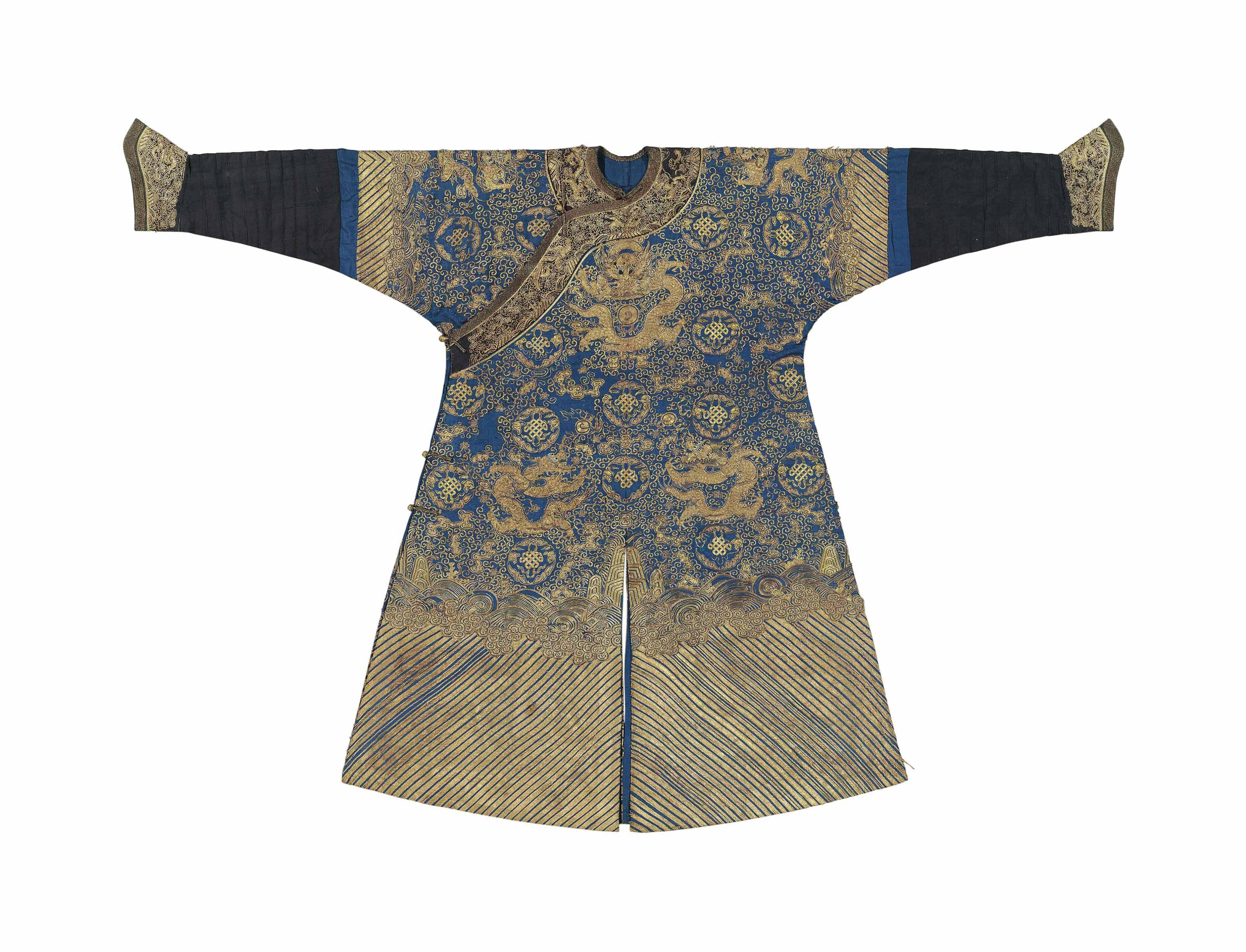 A BLUE-GROUND FORMAL DRAGON RO