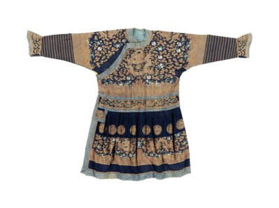 A BLUE-GROUND KESI FORMAL COUR