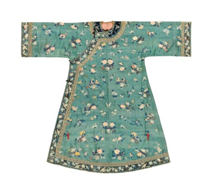 A JADE-GROUND KESI LADY'S ROBE