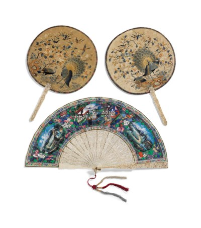 A CANTONESE FAN AND A PAIR OF