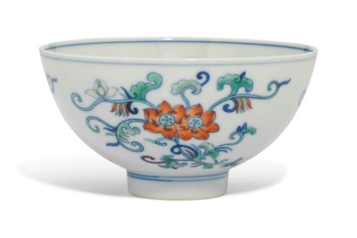 A DOUCAI 'LOTUS' BOWL