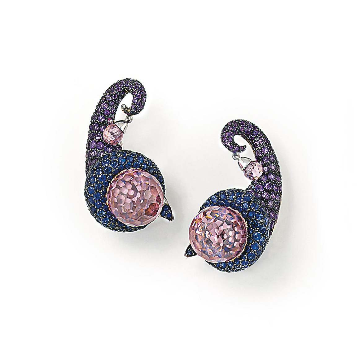 A PAIR OF SAPPHIRE, AMETHYST A