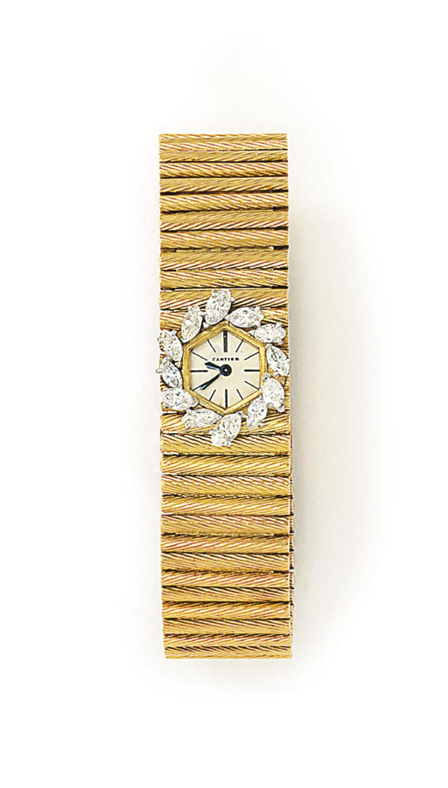 A LADY'S DIAMOND-SET WRISTWATC