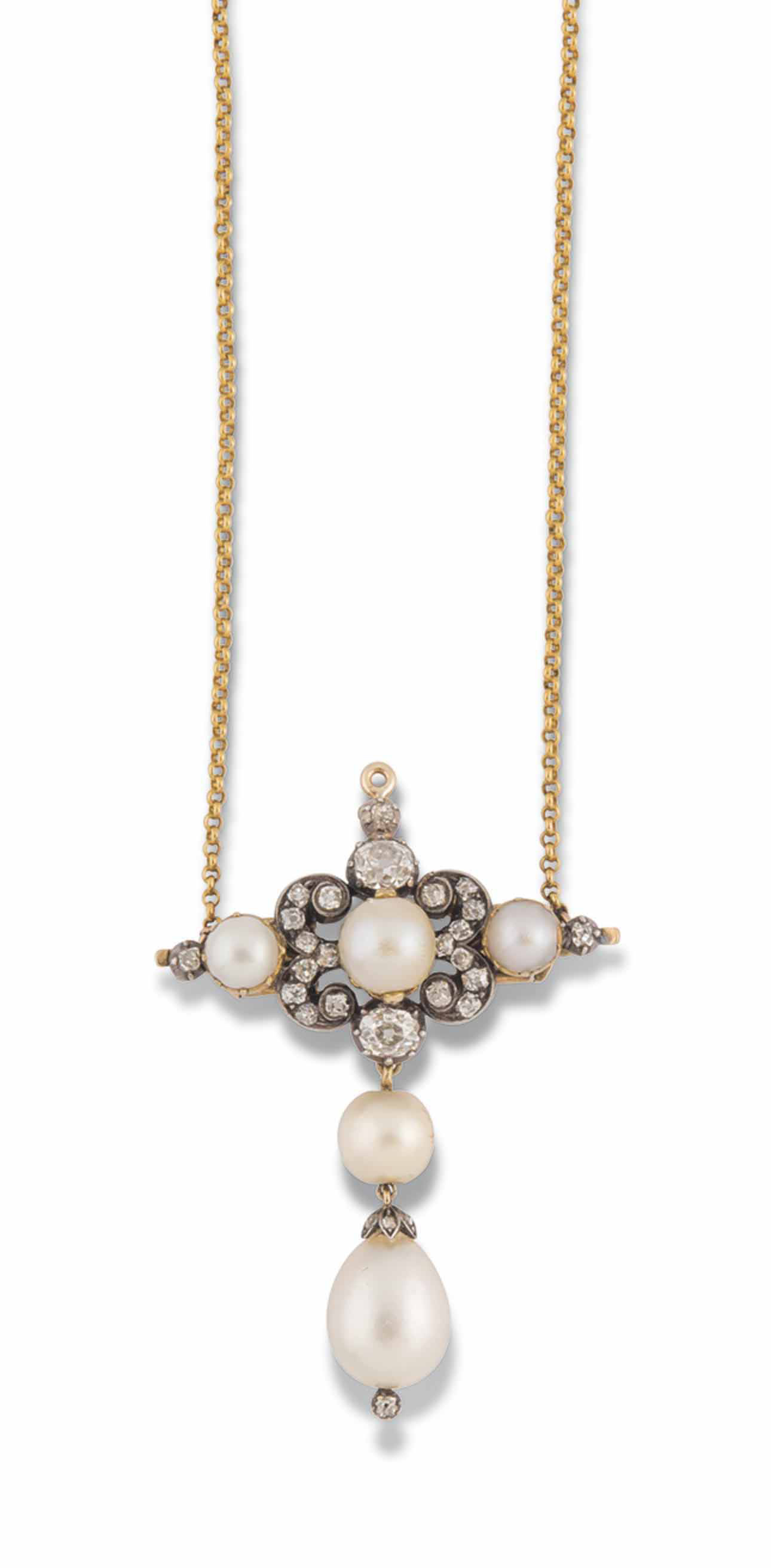 A MID 19TH CENTURY PEARL AND D