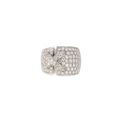 A DIAMOND-SET 'LIENS CROISÉS X