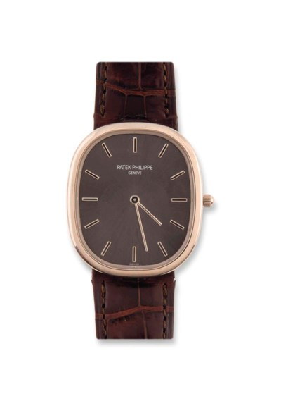 AN 18CT GOLD AUTOMATIC 'ELLIPS