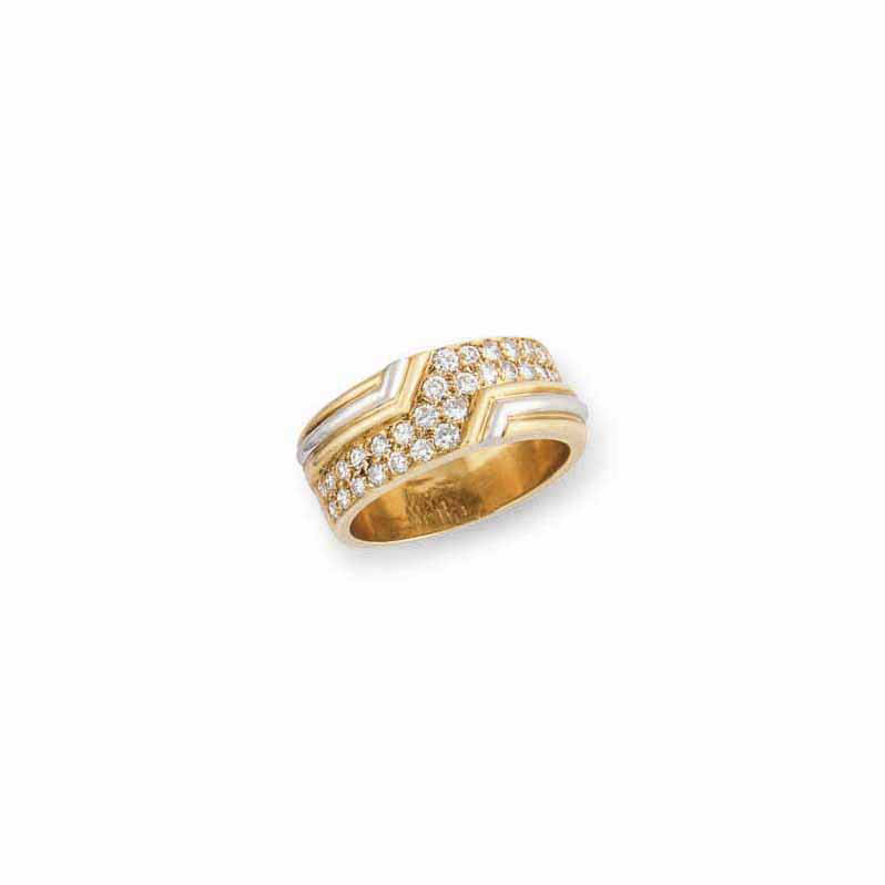A DIAMOND-SET RING, BY FRED