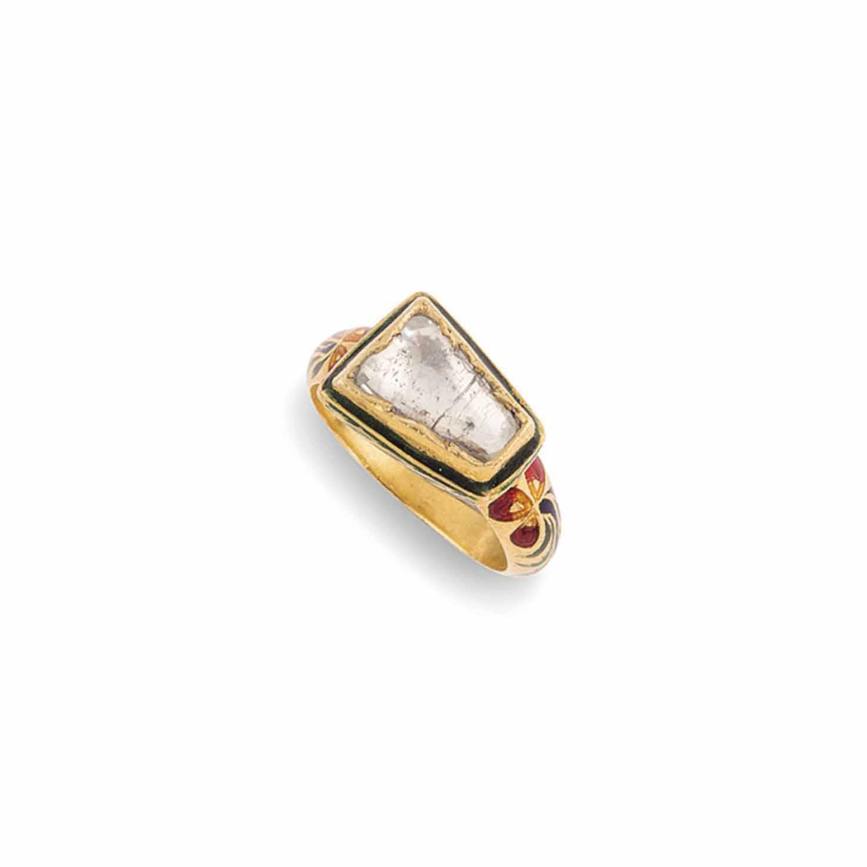 AN INDIAN DIAMOND AND ENAMEL R
