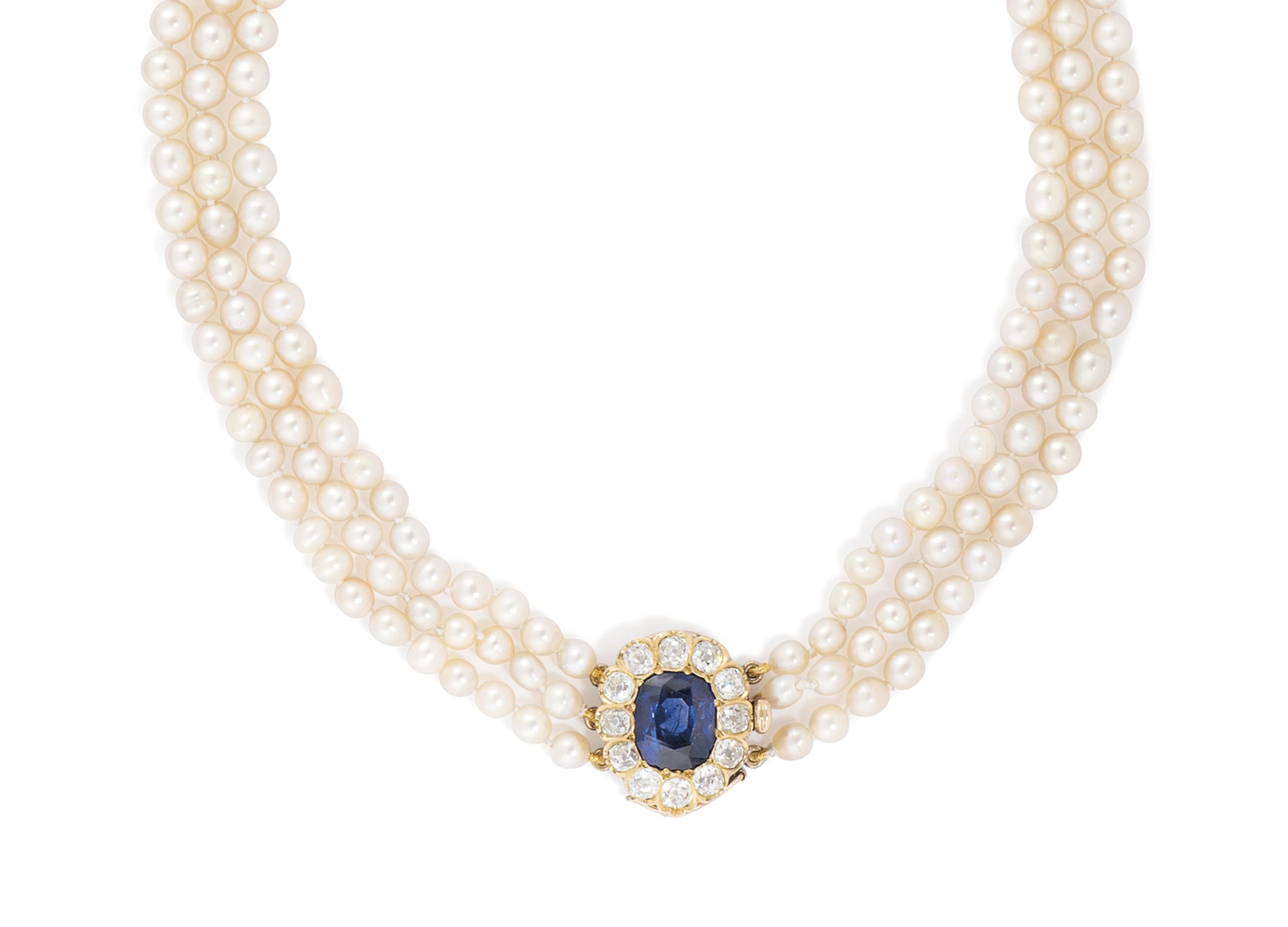 Seed pearl necklace raw ruby necklace Raw sapphire necklace Gold