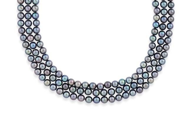 A GROUP OF CULTURED PEARL AND
