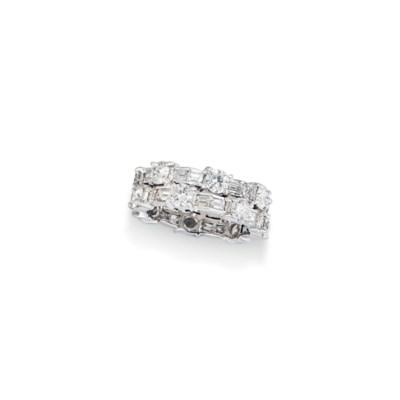 SEVEN DIAMOND-SET RINGS