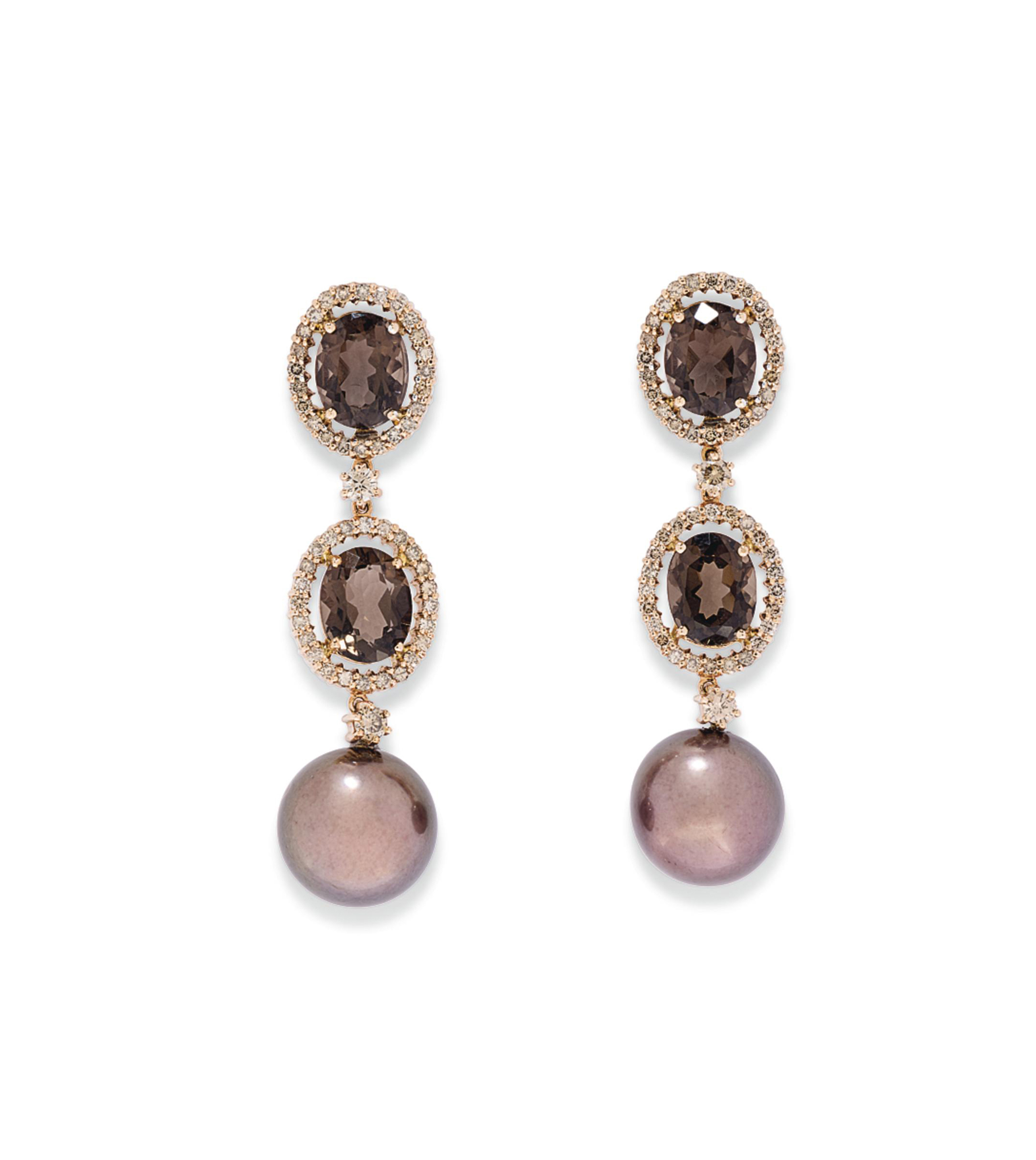 THREE PAIRS OF CULTURED PEARL,