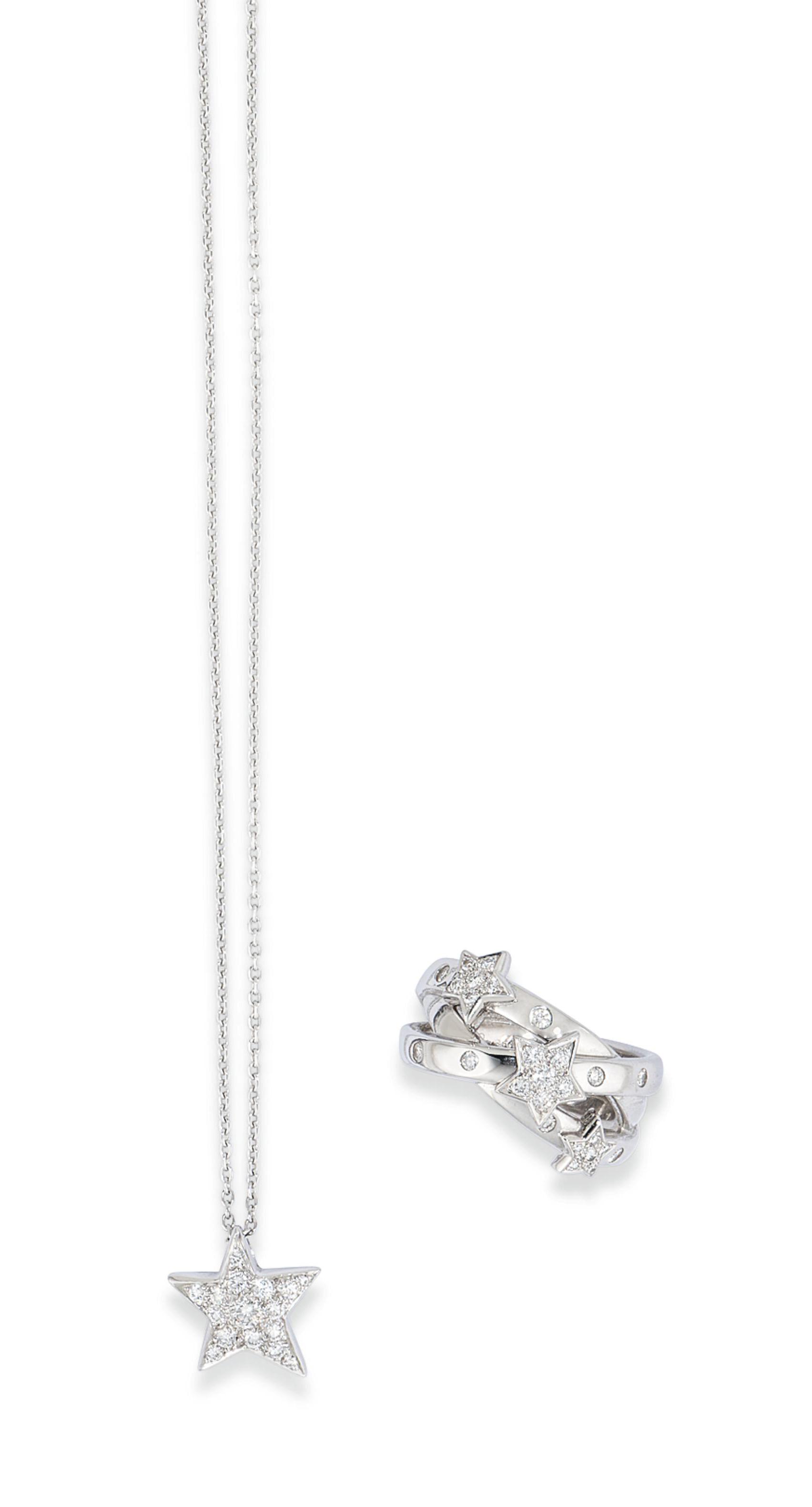 A DIAMOND-SET 'COMETE' RING AN