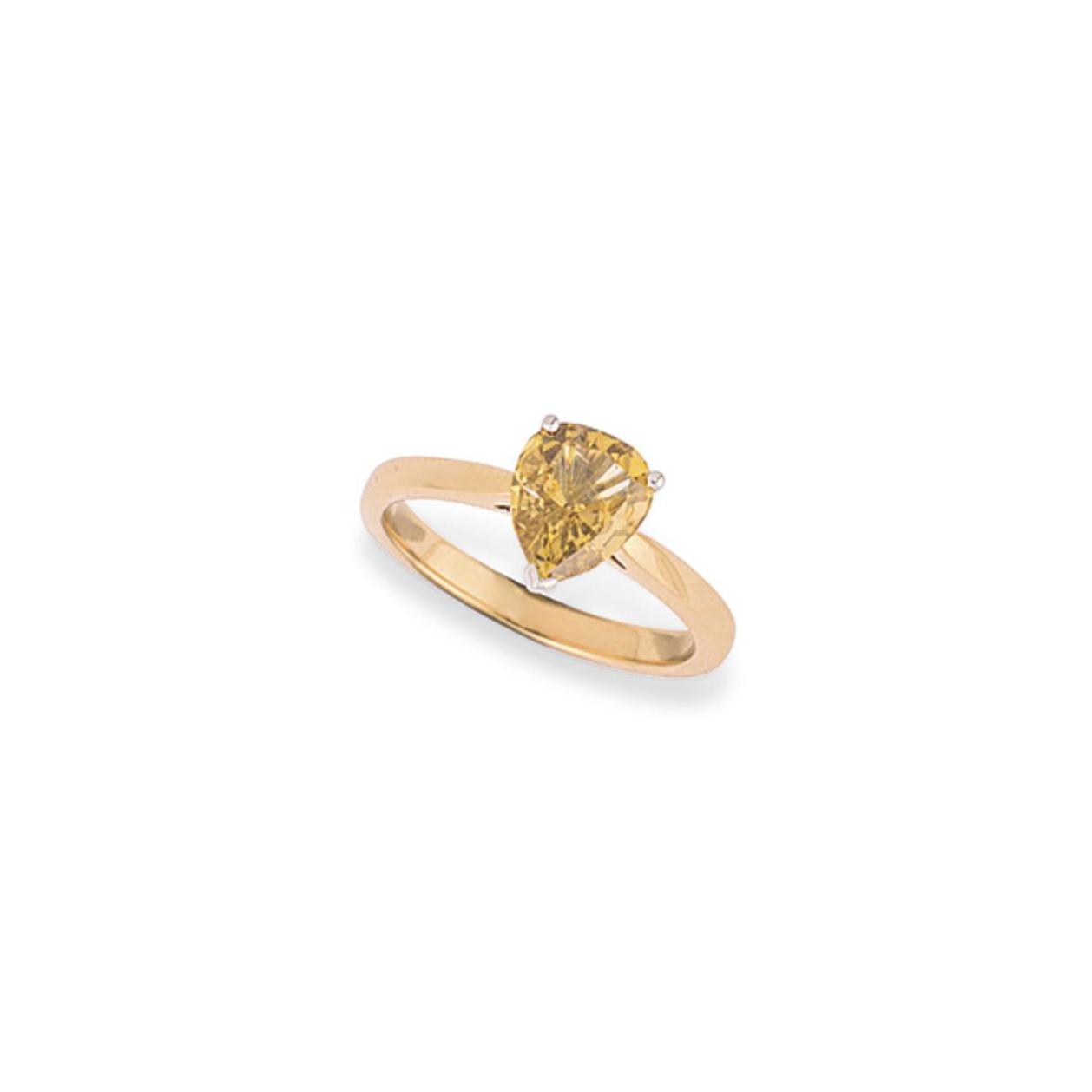 A COLOURED DIAMOND SINGLE STON