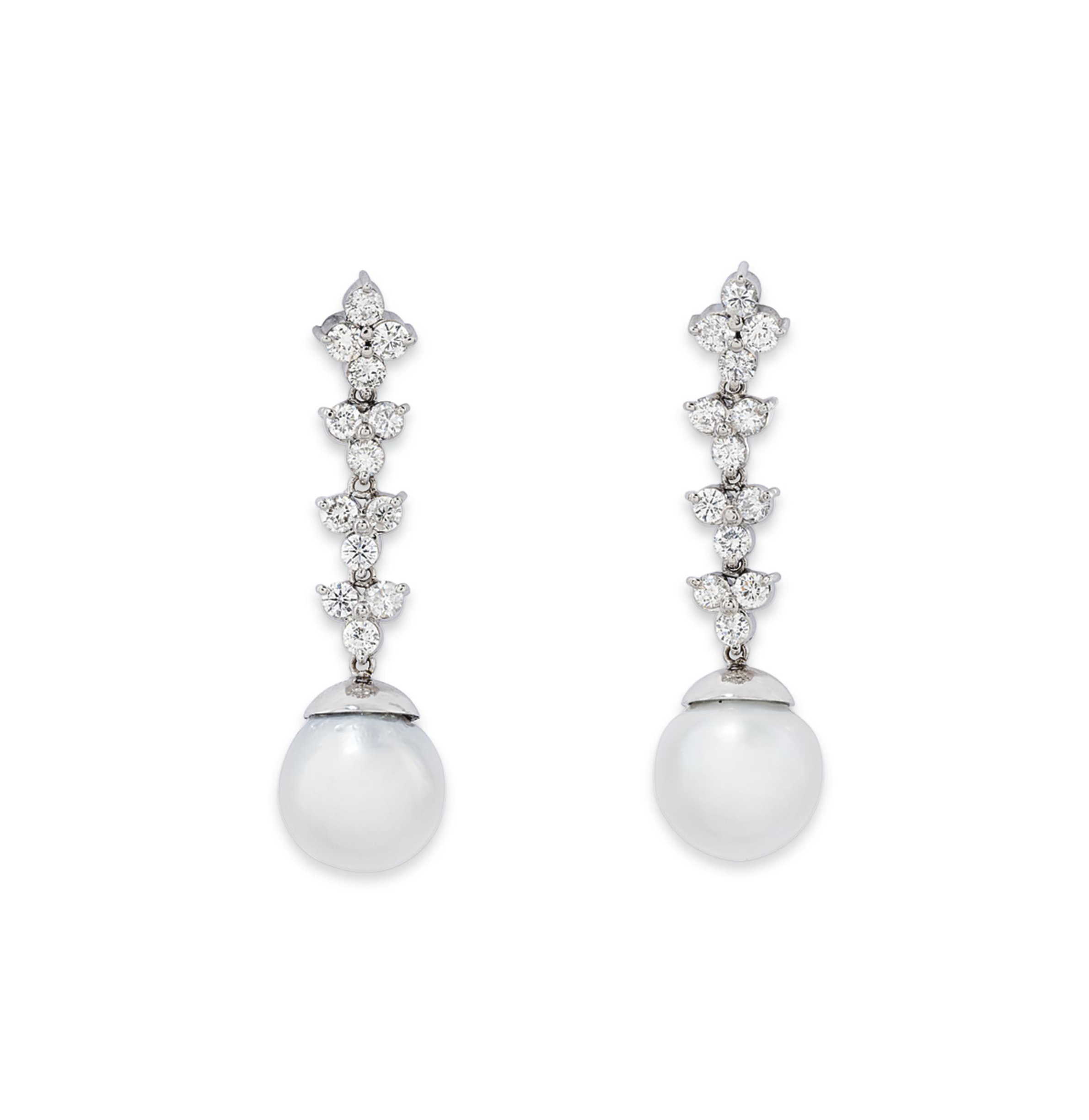 TWO PAIRS OF CULTURED PEARL, E
