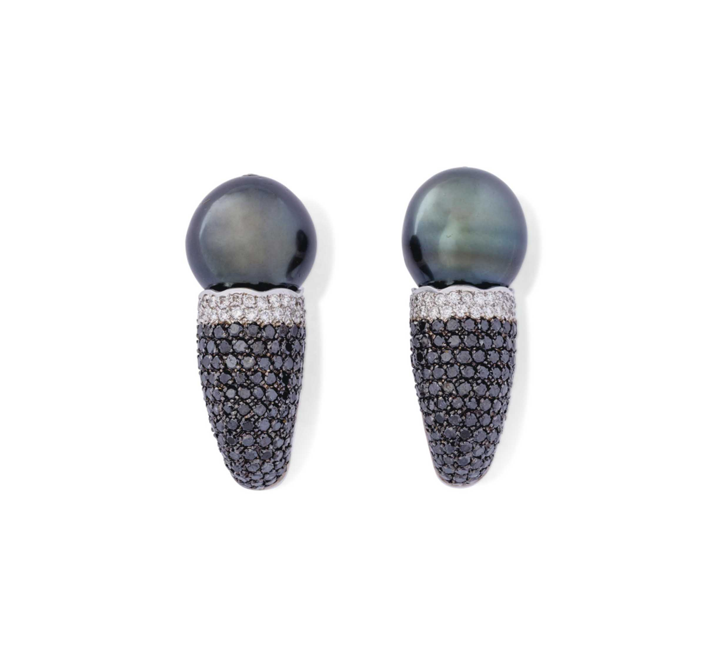 THREE PAIRS OF CULTURED PEARL