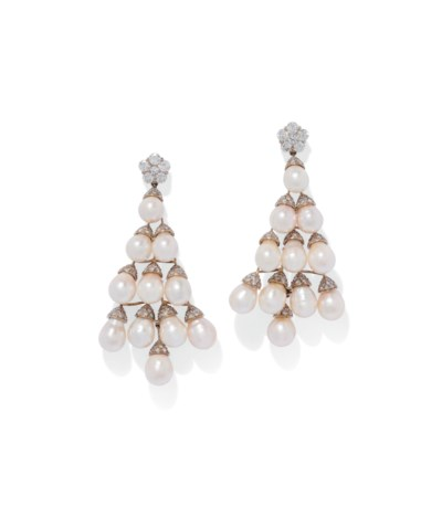 TWO PAIRS OF CULTURED PEARL AN