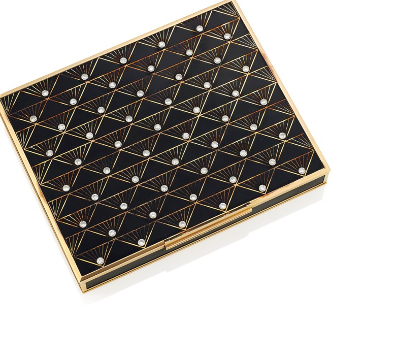 A gold and diamond-set minaudière, by Van Cleef & Arpels. Sold for £20,000 on 7 December 2016  at Christie's in London