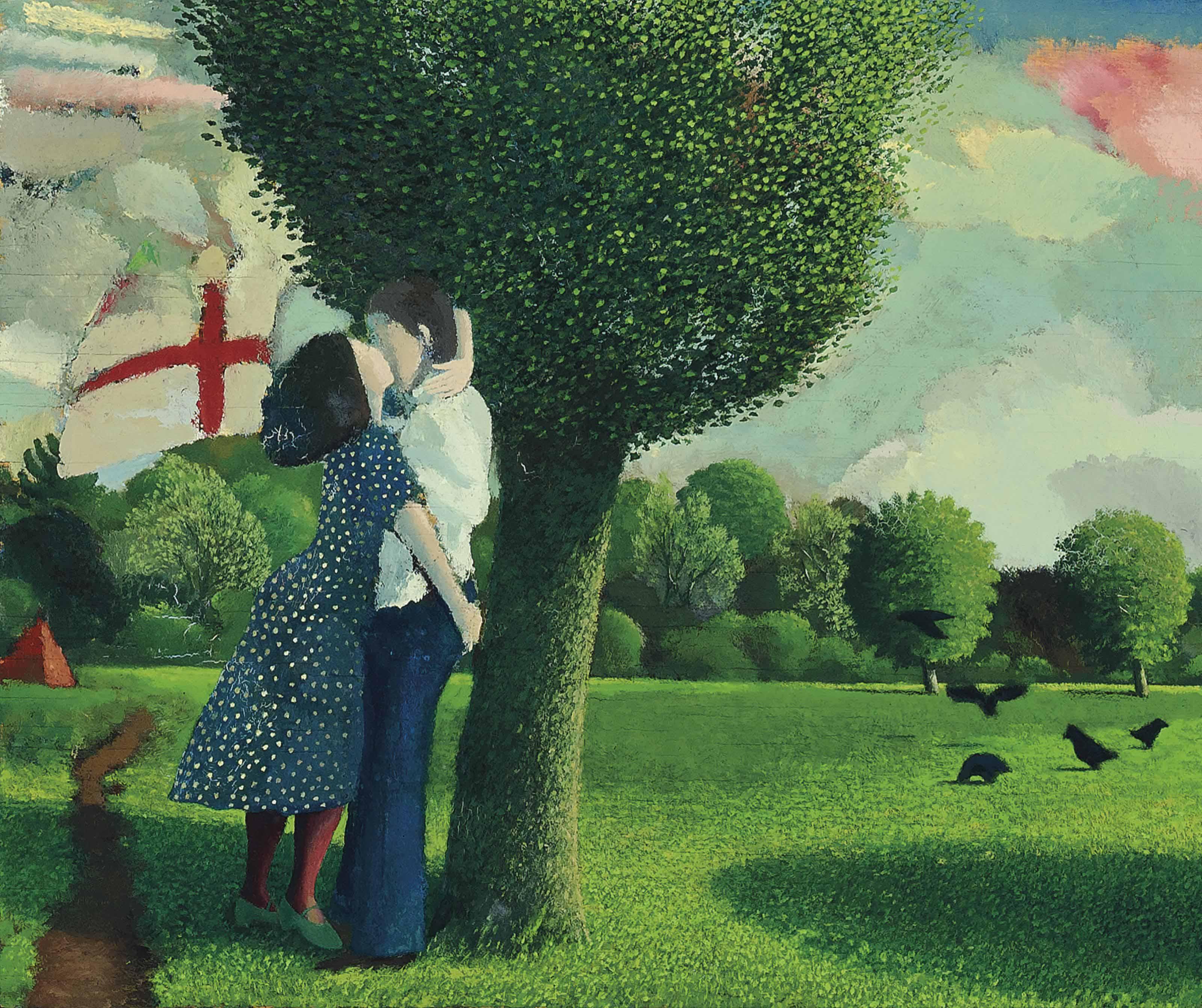 Lovers near Kew Gardens