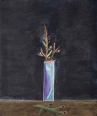Blue Vase and Mimosa Still-Life